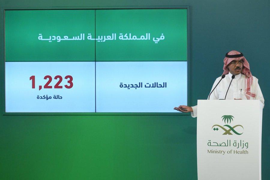 السعودية تسجل 1223 إصابة جديدة بفيروس كورونا المستجد