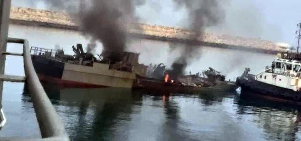 صاروخ ايراني يغرق بالخطأ سفينة حربية إيرانية ويقتل ويصيب العشرات قرب الخليج العربي