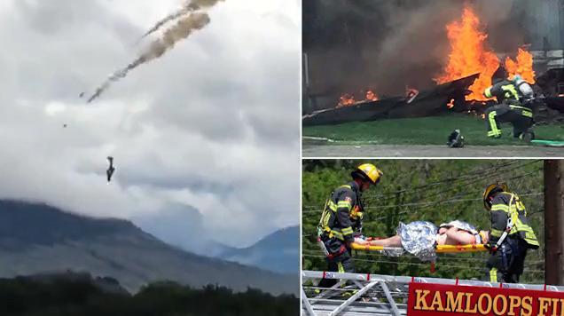 شاهد لقطات صادمة لتحطم طائرة خلال عرض لتكريم العاملين الصحيين في مواجهة كورونا