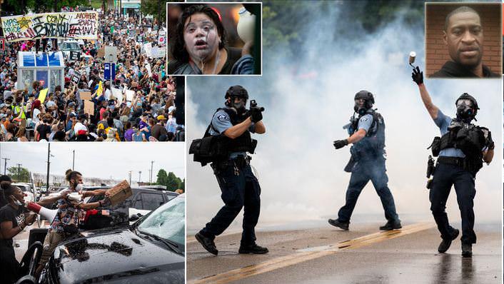 مواجهة عنيفة بين الشرطة ومحتجين على قتل أمريكي أسمر بعهدة الشرطة
