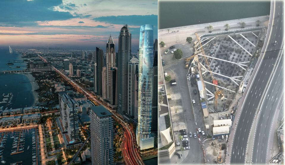 صحيفة البيان: رافعات البناء تباشر تشييد أعلى فندق في العالم بدبي