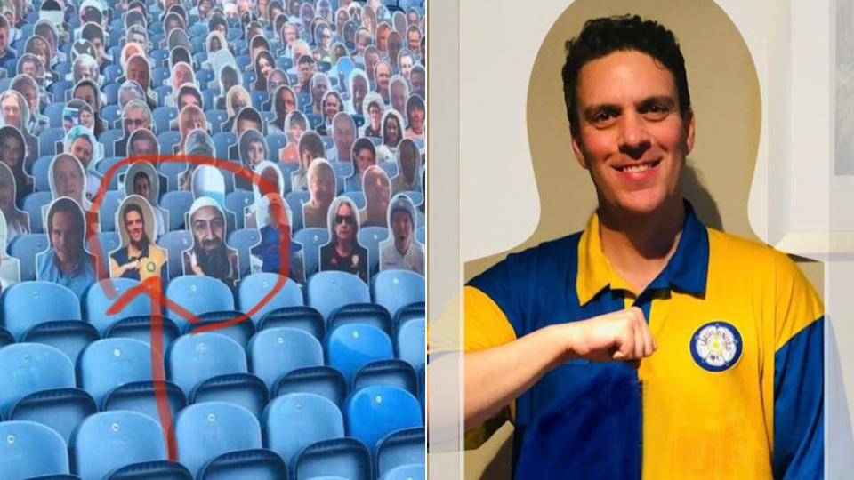 أسامة بن لادن يجبر نادي  ليدز يونايتد على الاعتذار بعد ظهور صورته بين المتفرجين في الملعب