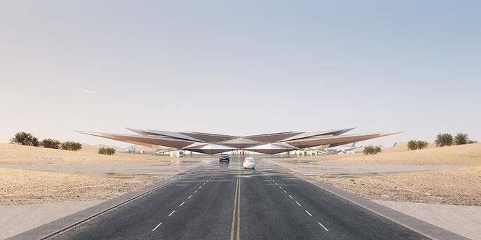 أمالا تكشف عن تصميم مطارها