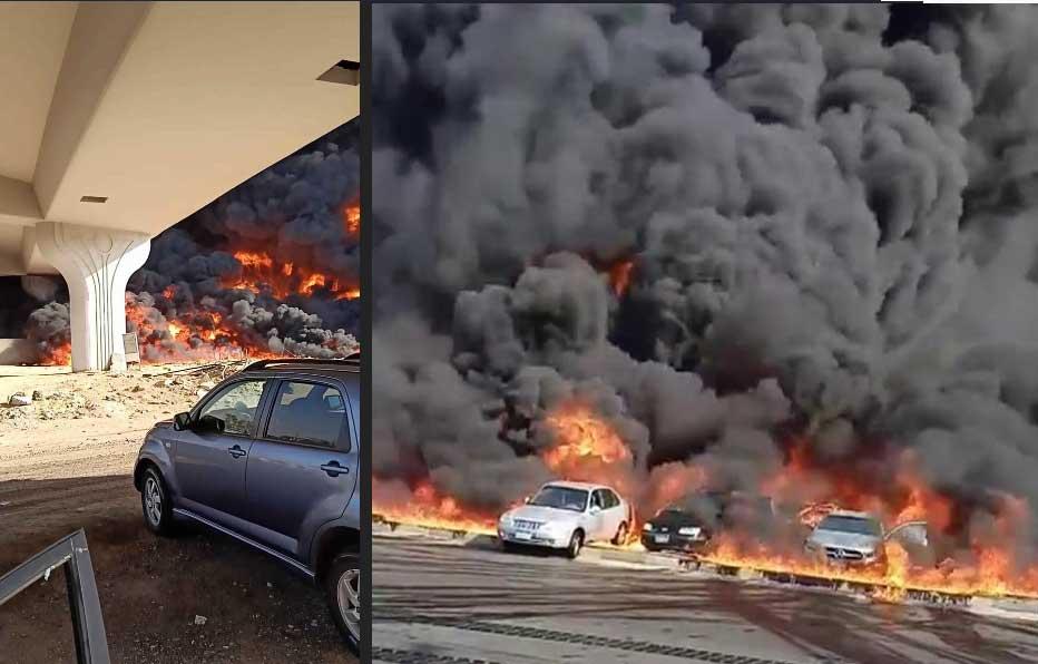 إصابة 17 في حريق خط أنابيب شقير-مسطرد في مصر