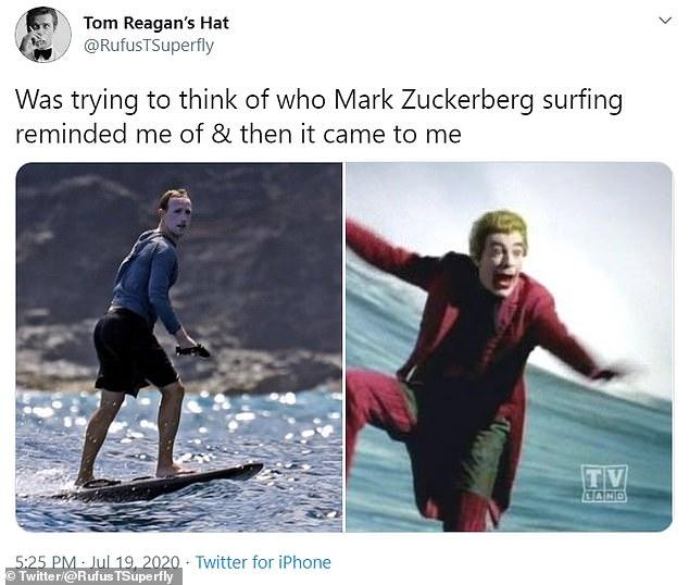 سخرية من مارك زوكيربرغ وتشبيهه بالجوكر بعد نشر صور لوجهه بواقى الشمس
