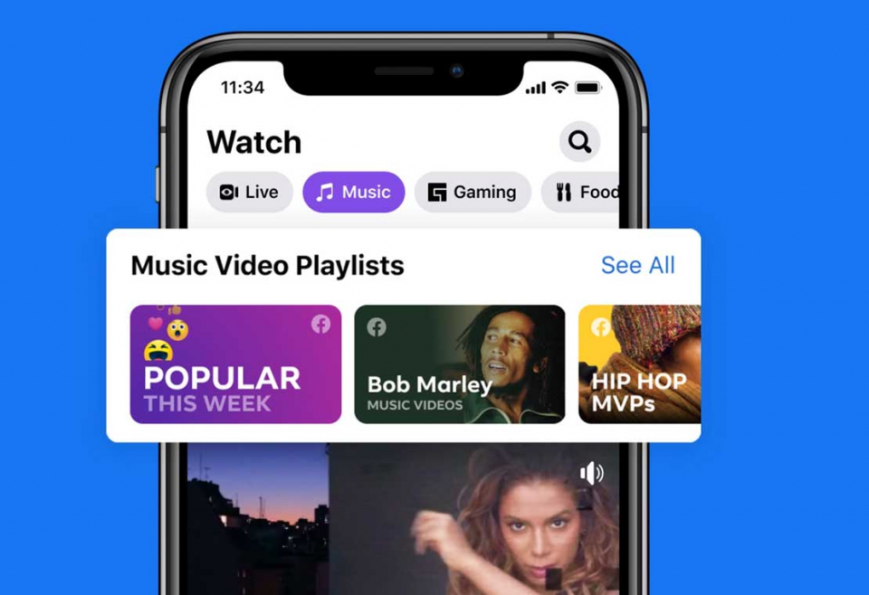 فيسبوك تكسر هيمنة يوتيوب على الموسيقى والأغاني وتبدأ مع فنانين مثل ليدي غاغا وتيلور سويفت وريهانا