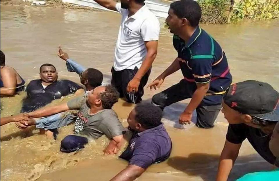مأساة الفيضان الأكبر منذ قرن يعيشها أهالي بلدات في السودان