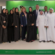 HE-Reem-Al-Hashimy-and-Abeer-Al-Hosani-with-Expo-2020-volunteers-and-partners-at-the-HoV.jpg